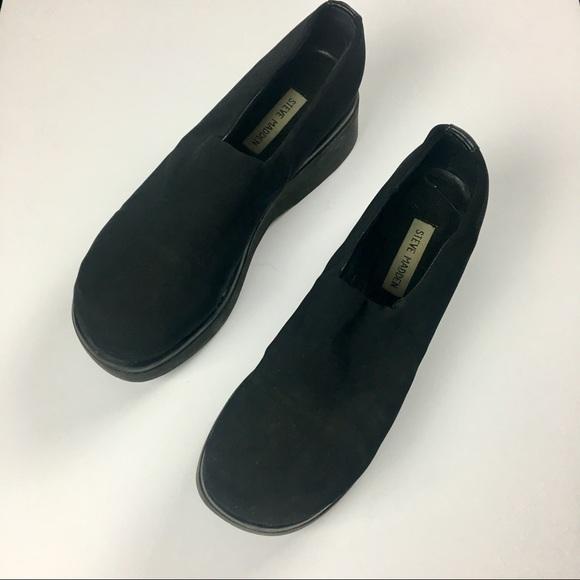 5e671ad3ee2 RARE Steve Madden 90s Slinky Black Platform Shoes